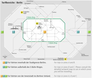 Les zones tarifaires des transports en commun à Berlin