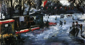 Lovis Corinth - Ice Skating Rink in The Tiergarten, Berlin
